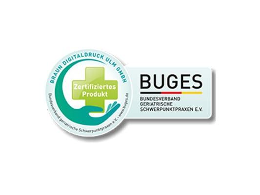 Schutzwand Zertifikat BUGES